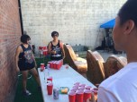 Beer pong against the famous Sapphire