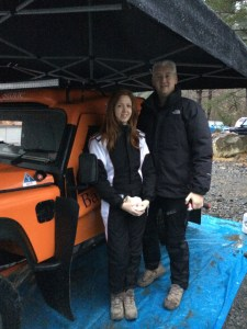 Lisa Saxton and Andy Jones with car 20, Bowler Wildcat