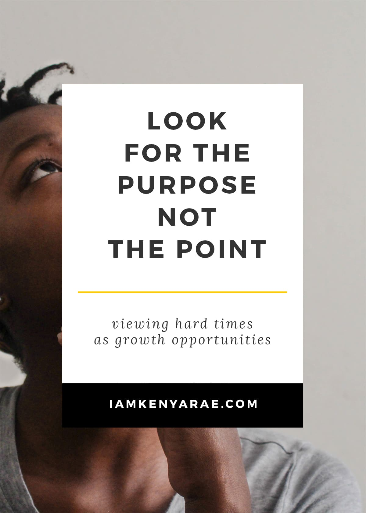 look for purpose not point