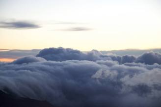 High above the clouds at Haleakala National Park