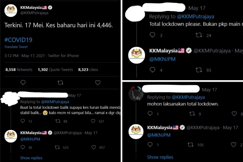 KKM tag MKN di Twitter
