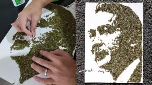 hasilkan-potret-kp-kesihatan-pemuda-ini-guna-4000-biji-kacang-hijau