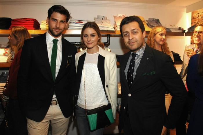 Johannes Huebl, Olivia Palermo, Stephane Cremieux==CREMIEUX FLAGSHIP SOHO STORE OPENING IN COLLABORATION WITH ANDY SPADE==Cremieux, 65 Mercer St, NYC==April 23, 2014==© Patrick McMullan==Photo - Liam McMullan/PatrickMcMullan.com==== © Patrick McMullan