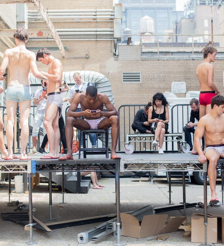 Backstage at Parke and Ronen SS17