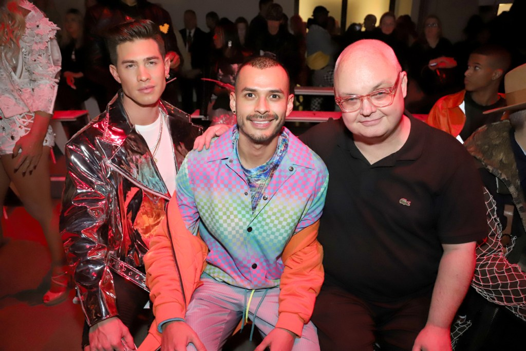 On the front row at The Blonds Fall 2018