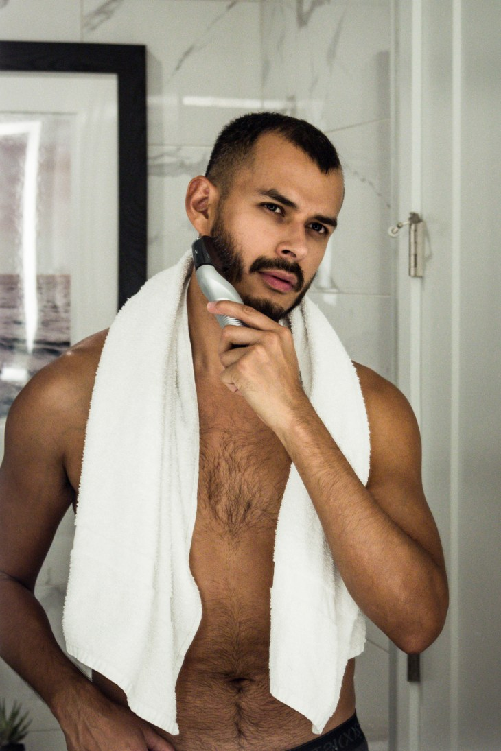 Updating my grooming routine with Panasonic's ER-GK60-S Men's Cordless Electric Body Trimmer by Jorge Gallegos (@manchic)