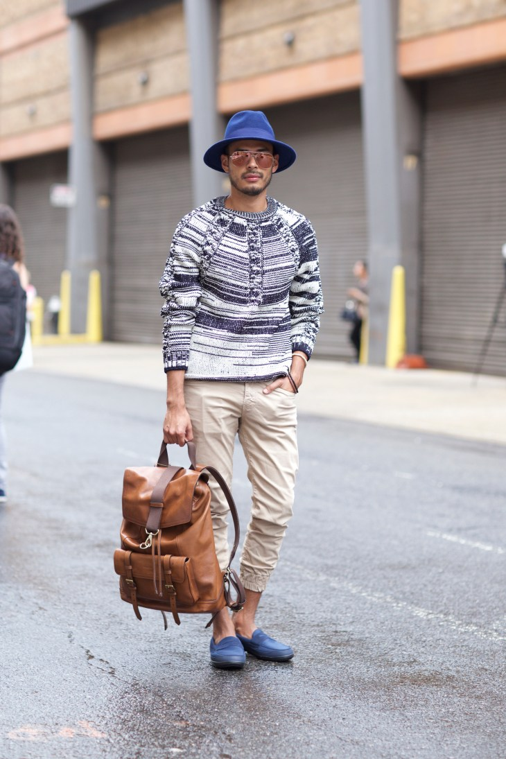 Jorge Galleos color-coordinates outfit for NYFW