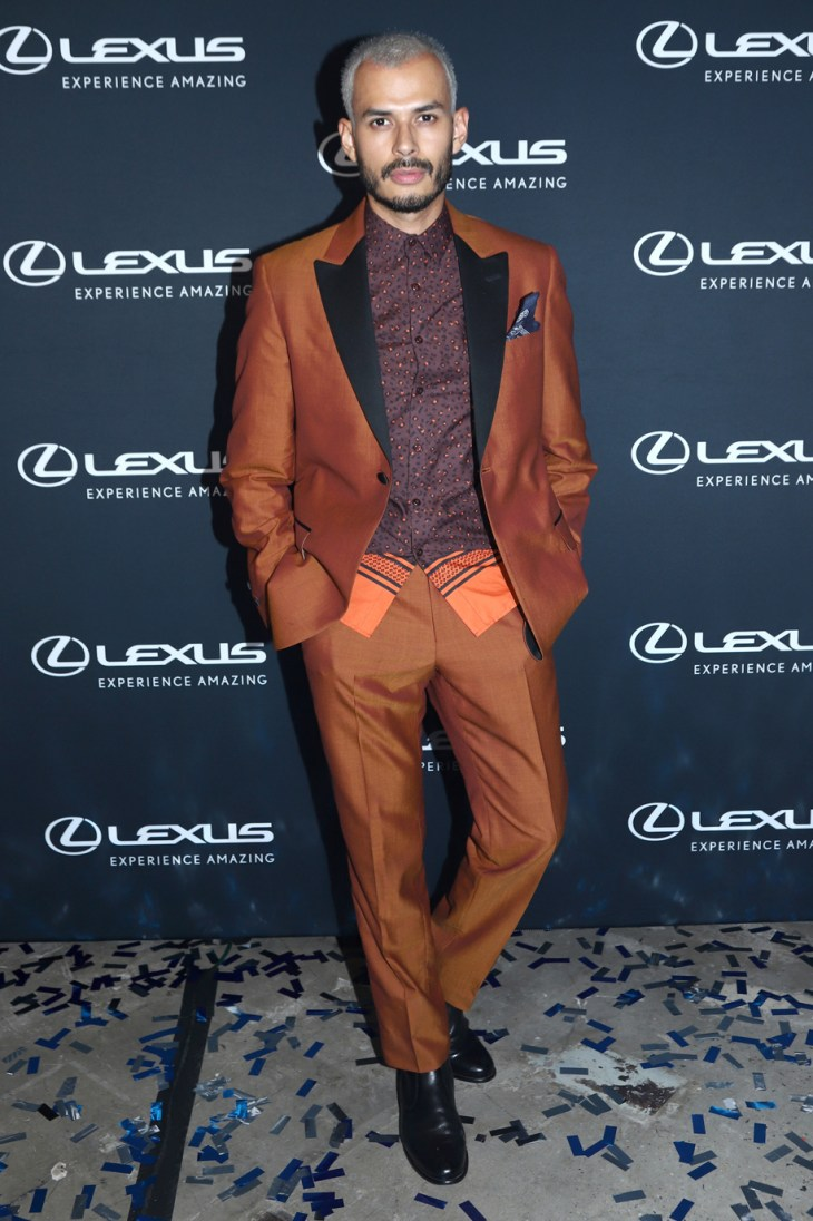 All decked out in David Hart suit at the 2018 OUT Fashion Vanguard Awards Presented By Lexus (Photo Jeff Eason)