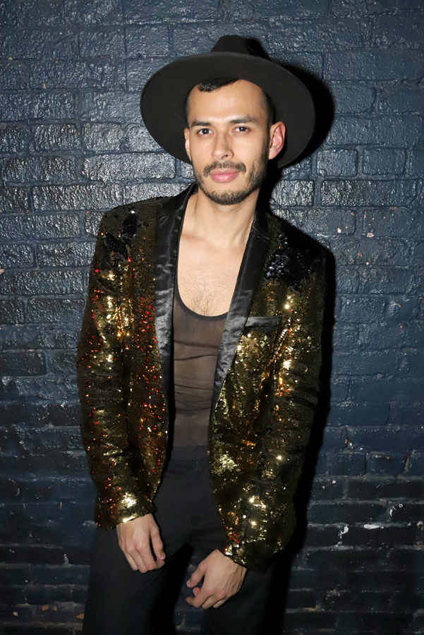 At STRUT party NYFW edition wearing ASOS sequin blazer (Photo Jeff Eason)