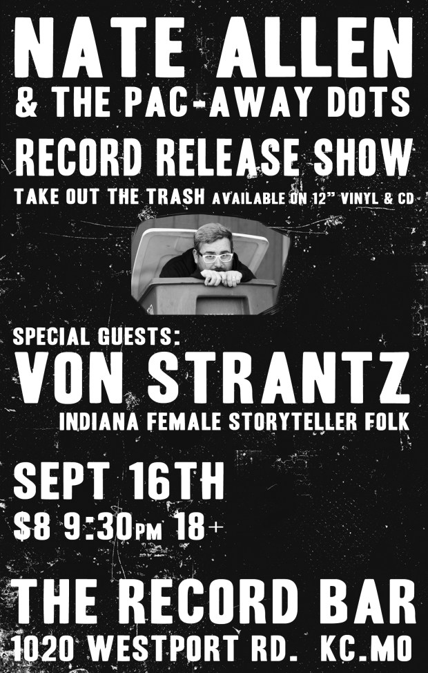 Take Out The Trash - Record Release Show Flier