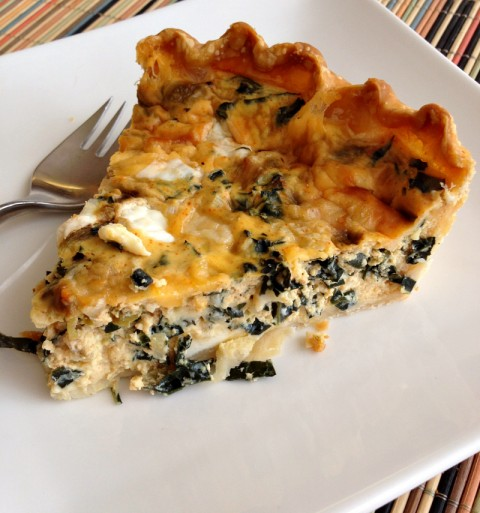 Savory Cheesy Kale Tart with Chiles