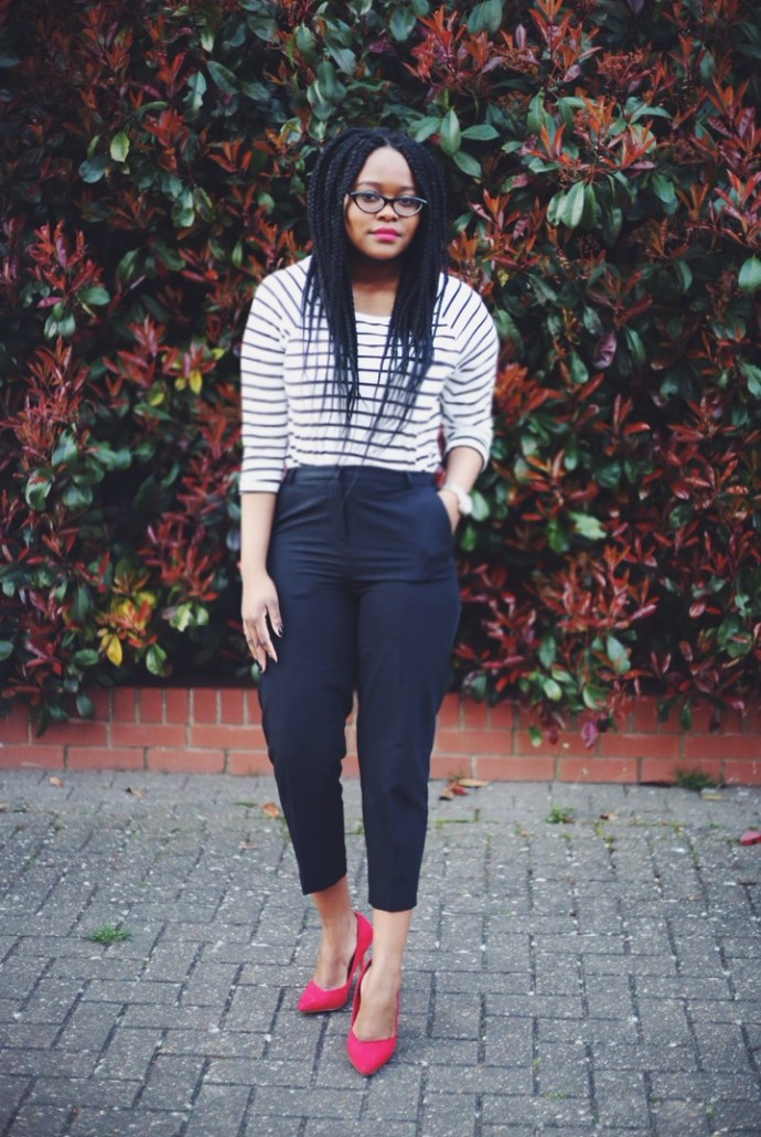 How to wear Cropped Trousers, How to wear a stripey top, how to wear stripes, top uk blogger, top uk fashion blogger
