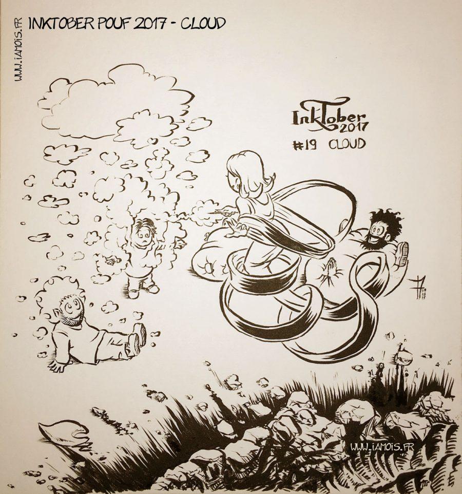 Inktober Pouf 2017 #19 Cloud - auteur : iamo'i's