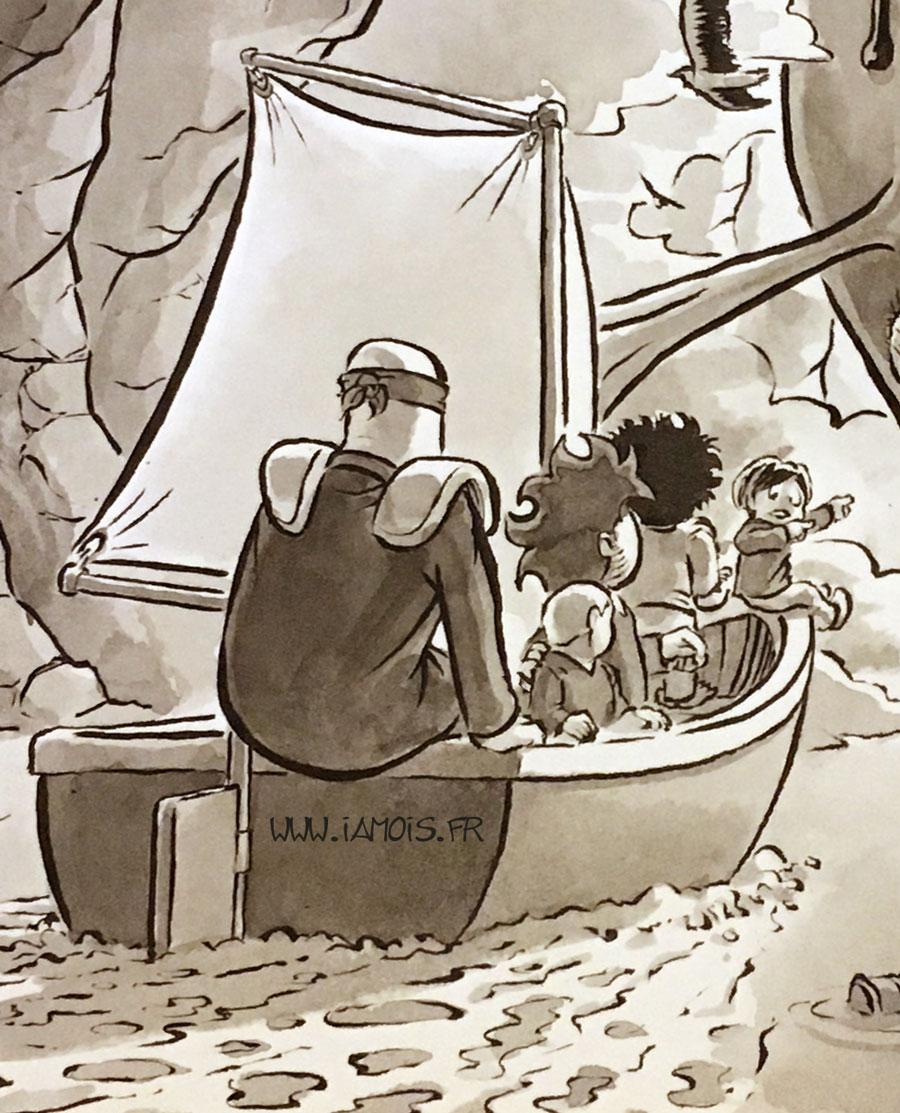 Inktober Pouf 2017 #25 Ship Zoom1 - auteur : iamo'i's