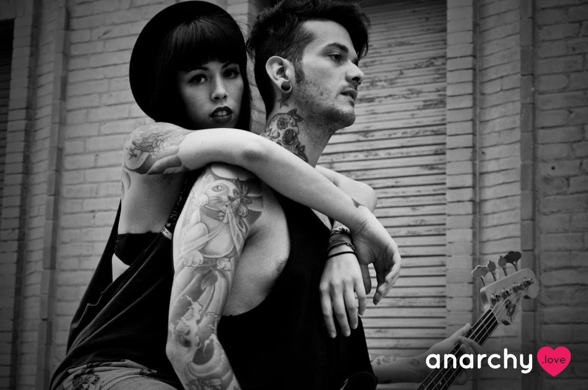 Anarchy love black and white image