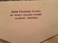 1939 Frances Flora College Address