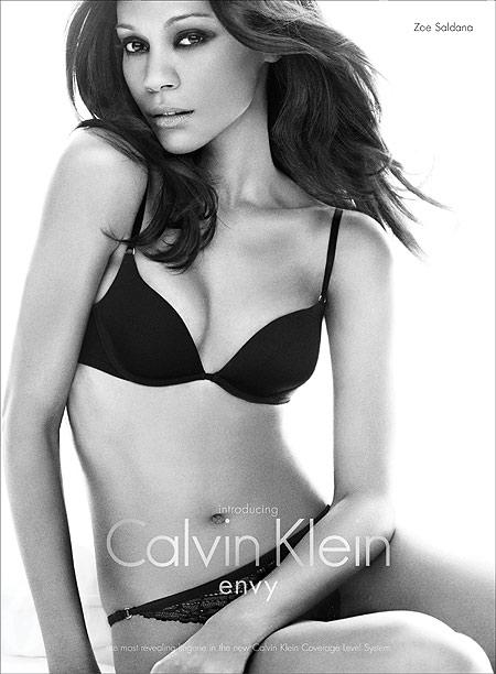 Eye Candy Zoe Saldanas Calvin Klein Photoshoot  I Am
