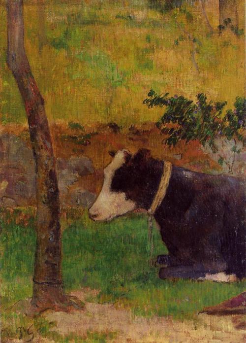 paul_guaguin_kneeling-cow
