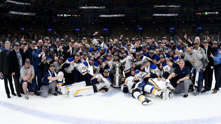 Blues Stanley Cup team photo