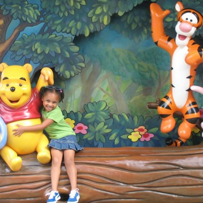 How to save money at Disney World - Pooh and friends - http://iamsherrelle.com