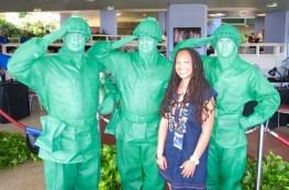 Toy Story green army men & Sherrelle http://iamsherrelle.com