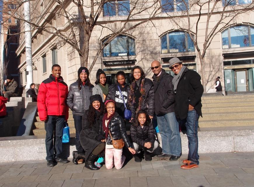 Inauguration of President Barak Obama - our family - http://iamsherrelle.com