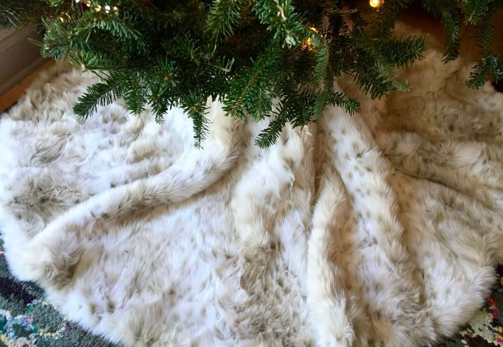 Fur Tree Skirt http://iamsherrelle.com