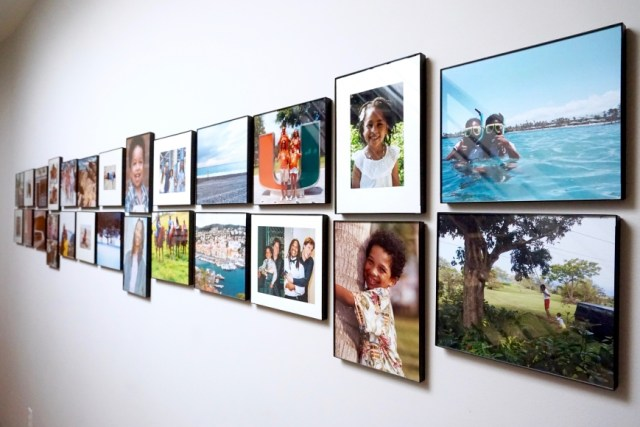 how to design an art gallery wall - family art wall - http://iamsherrelle.com