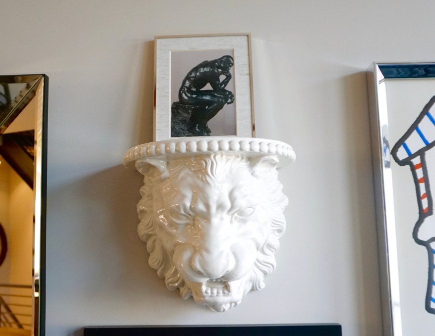 how to decorate with personality - lion head - http://iamsherrelle.com