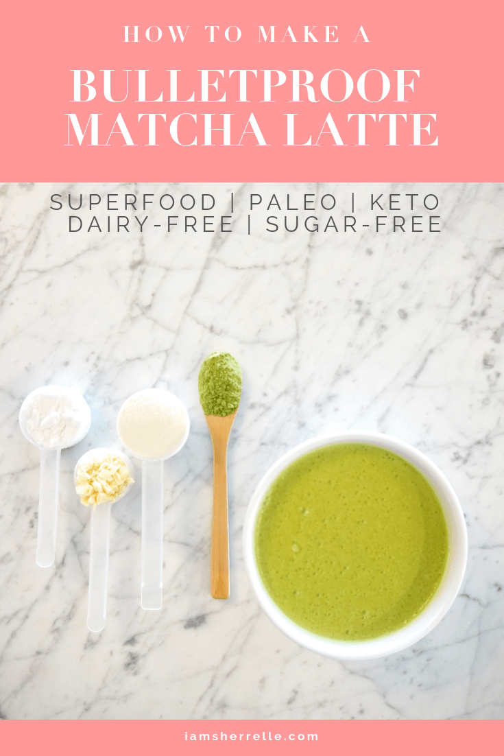 How to make a bulletproof matcha latte at home.