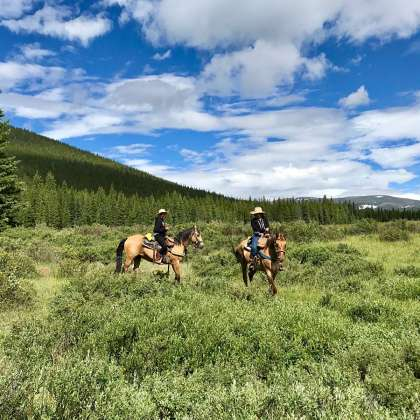 A dude ranch vacation is a great way to unplug and connect with nature and each other in a beautiful setting.  #vacation #colorado #dude #ranch #horses #flyfishing #rafting #tumblingriverranch