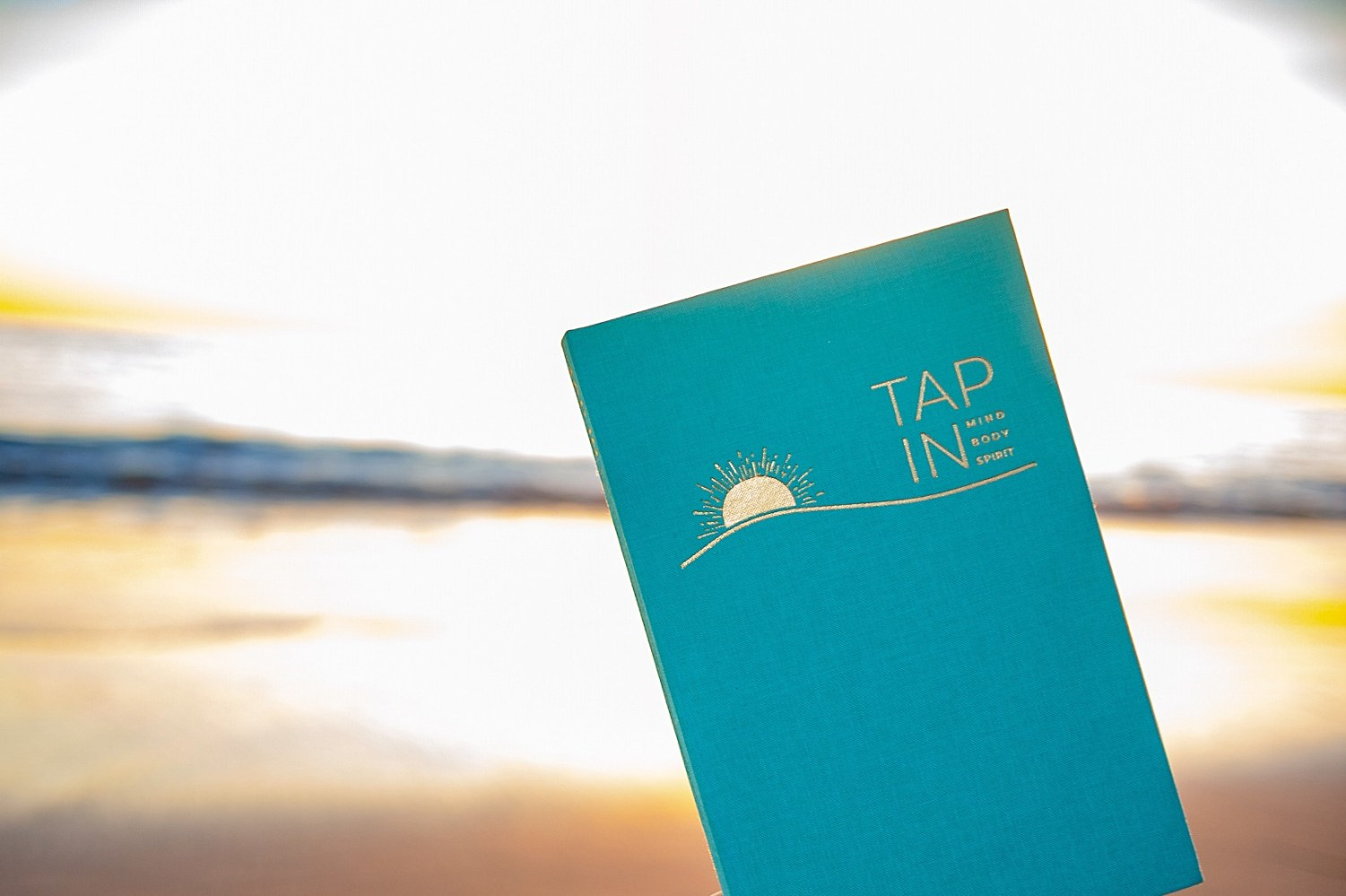 TAP IN wellness journal at the beach
