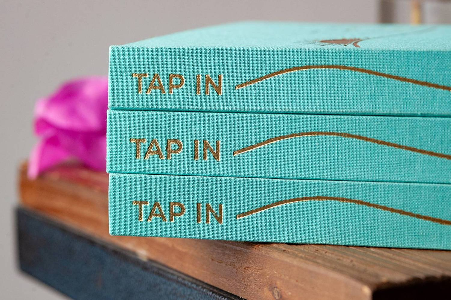 TAP IN wellness journal stacked