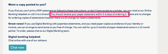 RBS Statements Website