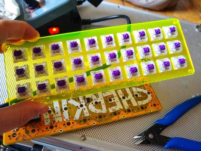 Gherkin keyboard build log