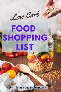 low carb food shopping list