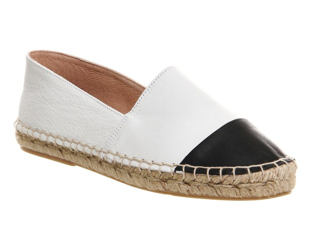 Lucky Espadrille with Toe Cap $61.55 (White with Black Toe)