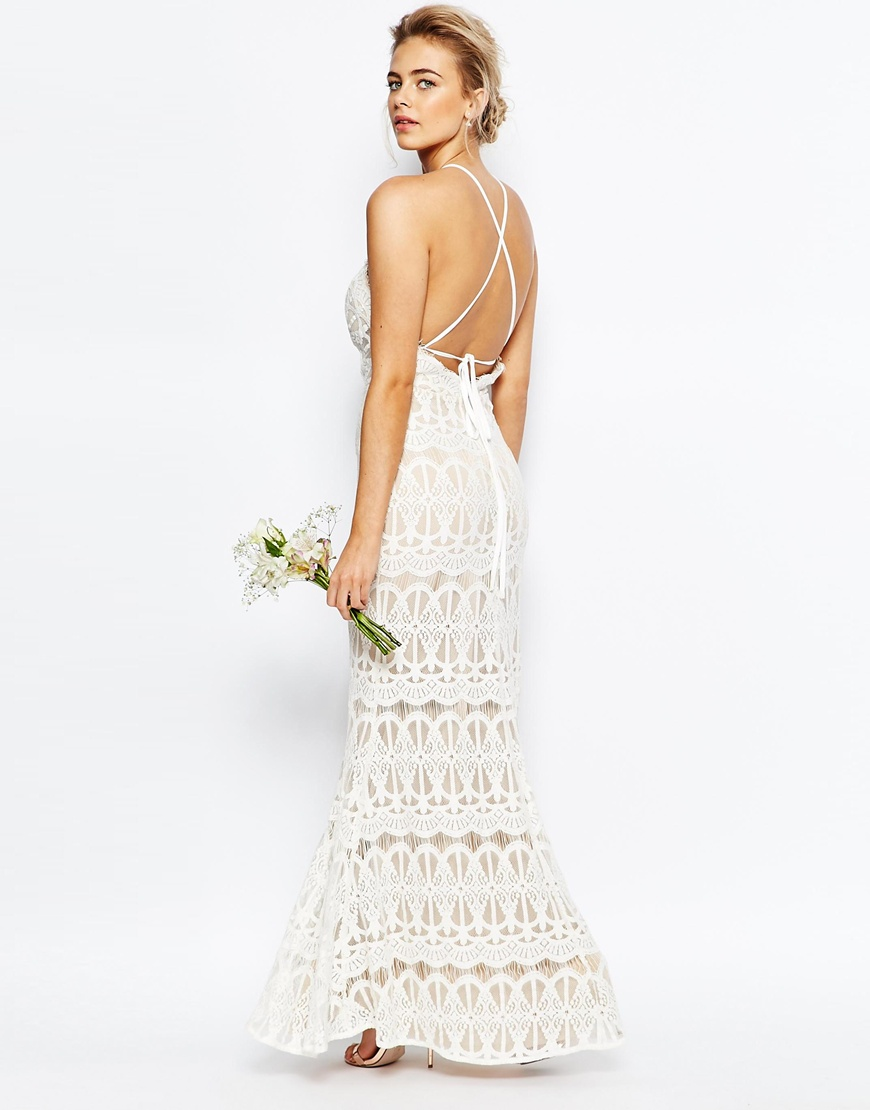 True Decadence High Neck Lace Dress with Tie Back HKD$ 1,249.98
