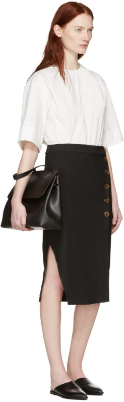 Mansur Gavriel Black Leather Lady Bag $716 USD