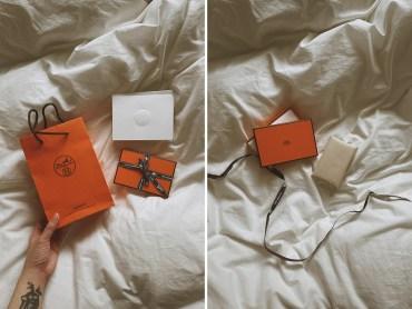 訂製版 Hermès 愛馬仕 Calvi 卡套送來了!無現金社會瑞典 100% 電子卡片支付