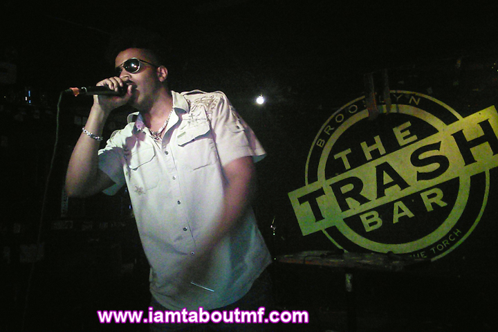 Undefinable One aka Tabou TMF Performing Live on Stage at The Trash Bar in Brooklyn, New York