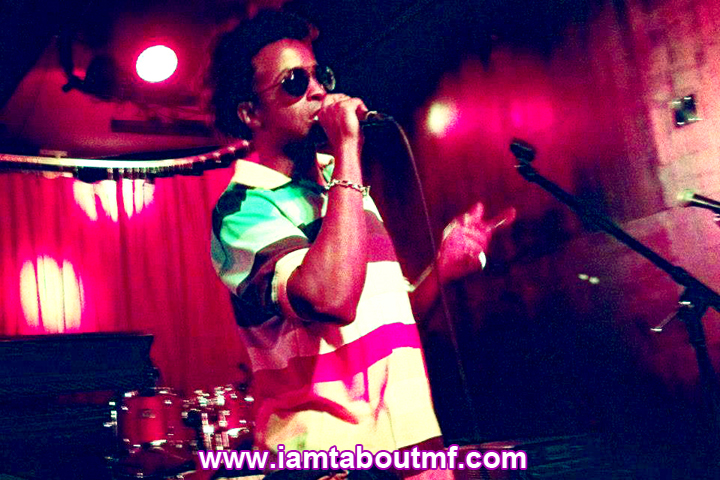 Tabou TMF aka Undefinable One performing live on stage at Tammany Hall in NYC