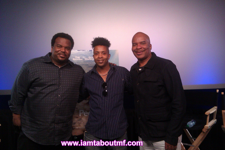 Chris Robinsion, Tabou TMF aka Undefinable One and David Allen Grier at The Peeples Premier in NYC