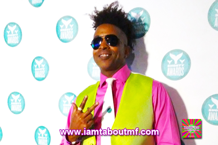 Tabou TMF attends The Ninth Annual Shorty Awards in New York City at the Playstation Theatre