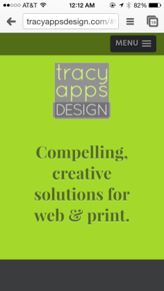 tracyappsdesign.com - mobile view