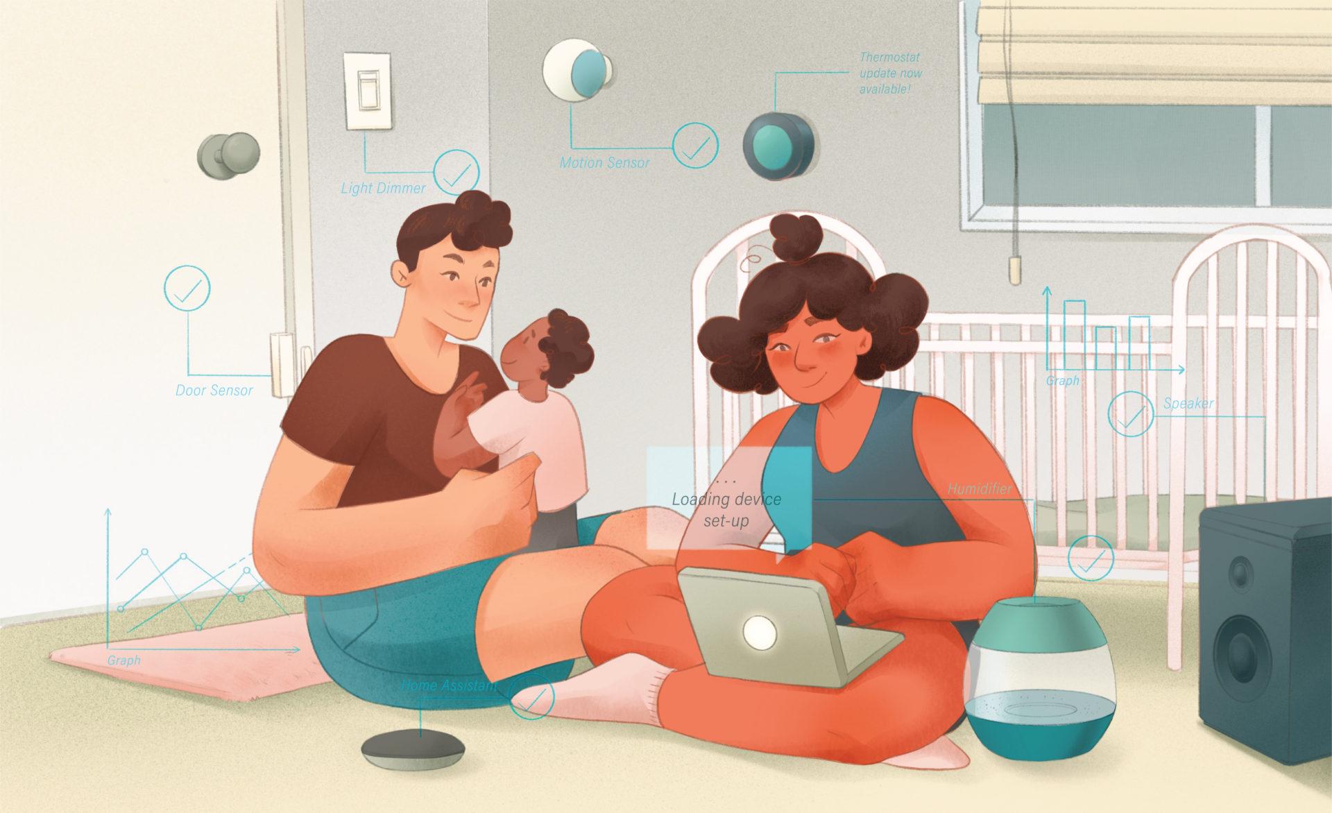 Secure home illustration