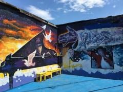 Killer mural art at Motor City Java House in Detroit