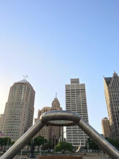 Beautiful downtown Detroit