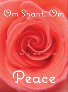 om shanti om peace mist
