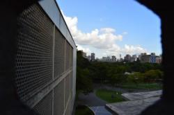 Vista del edificio del rectorado hacia Tierra de Nadie. Ciudad Universitaria. Foto Xiomara González. Cortesía Archivo Copred